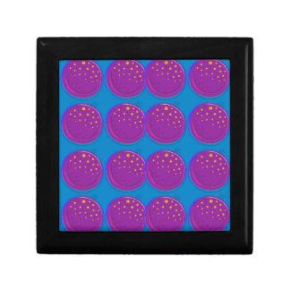 Entwurfsgranatäpfel köstliches Blau Geschenkbox
