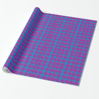 Entwurfsgranatäpfel köstliches Blau Geschenkpapier