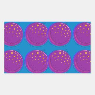 Entwurfsgranatäpfel köstliches Blau Rechteckiger Aufkleber