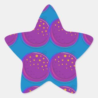 Entwurfsgranatäpfel köstliches Blau Stern-Aufkleber