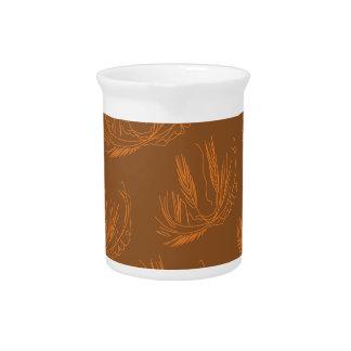 Entwurfspalmengold auf choco getränke pitcher