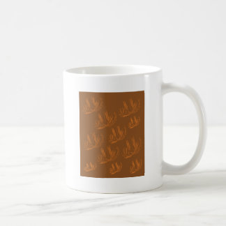 Entwurfspalmengold auf choco kaffeetasse