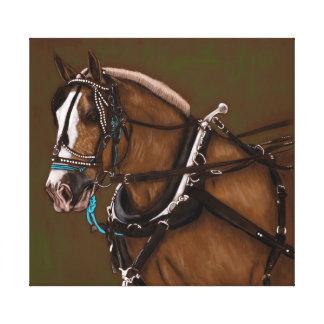 Entwurfspferdeporträt Leinwanddruck