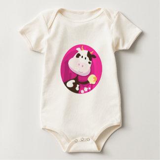 Entwurfssammlung mit Kuh und Bell Baby Strampler