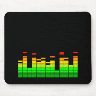 Entzerrer-Schwingungen vom Schlag von DJ-Musik Mauspad
