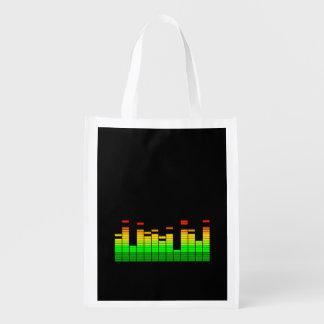 Entzerrer-Schwingungen vom Schlag von DJ-Musik Wiederverwendbare Einkaufstaschen