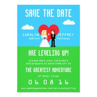 Entzückend Nerdy 8-Bit Save the Date 12,7 X 17,8 Cm Einladungskarte
