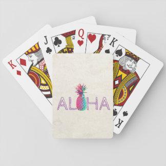 Entzückende Aloha hawaiische Ananas Spielkarten