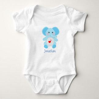 Entzückende Baby-Blau-Elefant-Babyparty Baby Strampler