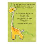 entzückende Babygiraffenjungen-Adoptionsmitteilung 12,7 X 17,8 Cm Einladungskarte