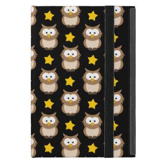 Entzückende Baum-Eulen und goldene Sterne auf Hülle Fürs iPad Mini