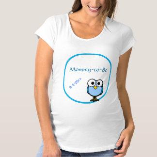 Entzückende blaue Eulen-Mama, zum Babyparty zu Shirt