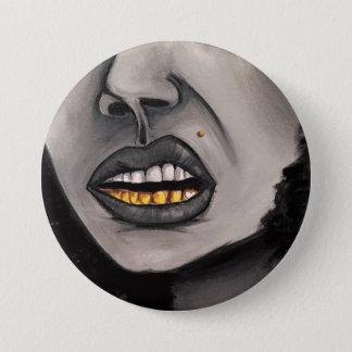 """entzückende Buttone """"Mädchen grillt """" Runder Button 7,6 Cm"""