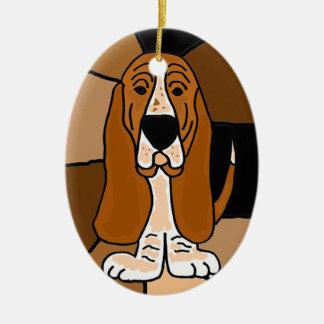 Entzückende Dachshund-Jagdhund-Hundekunst abstrakt Keramik Ornament