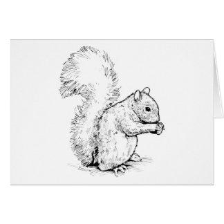 Entzückende Eichhörnchen-Gruß-Karte Karte