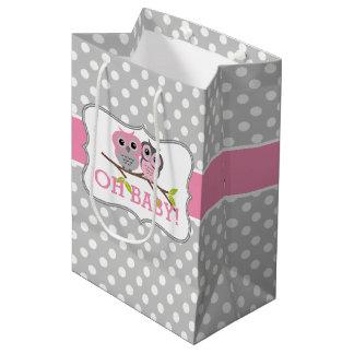 Entzückende Eulen-Babyparty Mittlere Geschenktüte