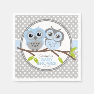 Entzückende Eulen-Babyparty Papierservietten