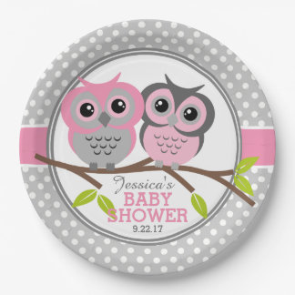 Entzückende Eulen-Babyparty Pappteller 22,9 Cm