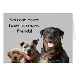 Entzückende Haustier-Freundschafts-Karte Karte