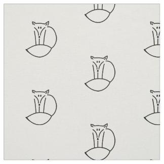 Entzückende Illustrations-niedlicher WaldFox Stoff