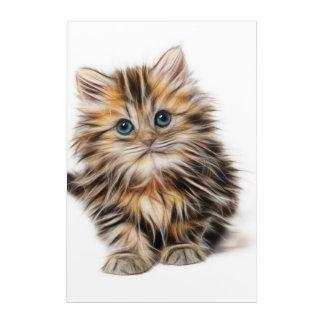 Entzückende Kätzchen-Malerei Acryldruck