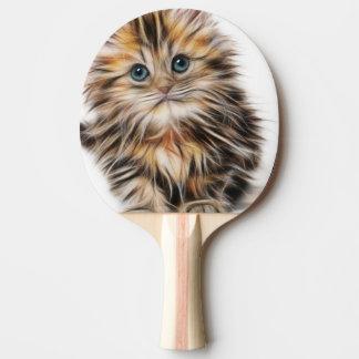 Entzückende Kätzchen-Malerei Tischtennis Schläger