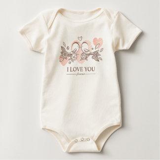 Entzückende Lovebirds Bodysuit im Liebevalentine-| Baby Strampler
