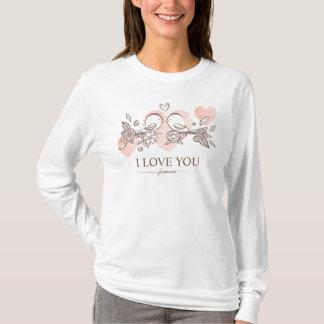 Entzückende Lovebirds im T-Shirt