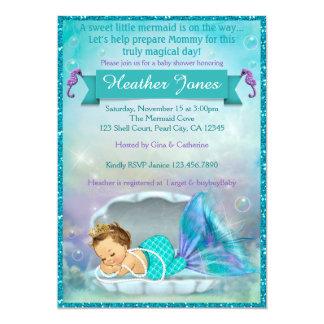 Entzückende Meerjungfrau-Babyparty-Einladungen Karte