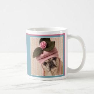 Entzückende Mops-Tasse Gretta Rose der Möpse und Tasse
