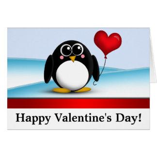 """Entzückende Pinguin-""""glücklicher Valentinstag-"""" Karte"""