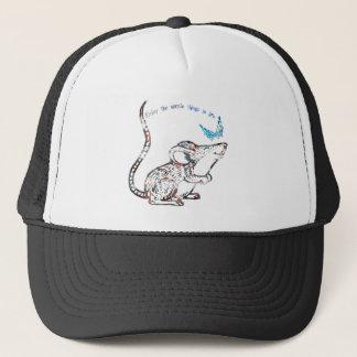 Entzückende Ratten-und Schmetterlings-Freundschaft Truckerkappe