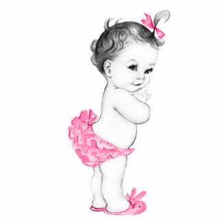 Entzückende rosa Baby-Dusche Fotostatuen