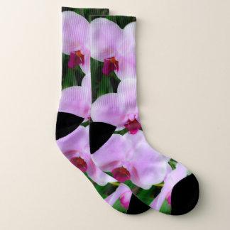 Entzückende rosa Blumen-Fotografie-Socken Socken