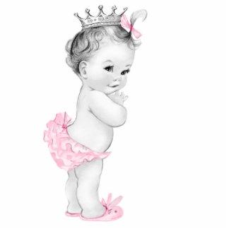 Entzückende rosa Dusche Prinzessin-Baby Freistehende Fotoskulptur