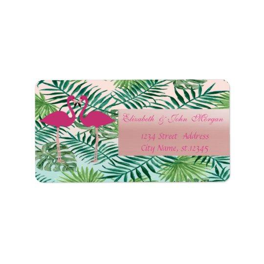 Entzückende rosa Flamingos, Adressaufkleber