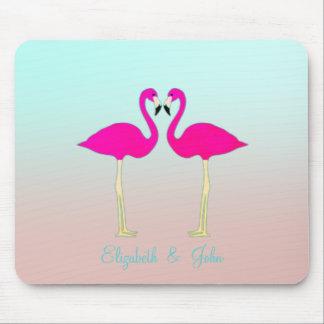 Entzückende rosa Flamingos in Mousepad