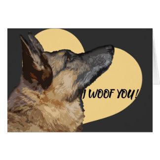 Entzückende Schäferhund-Valentinstag-Karte Karte