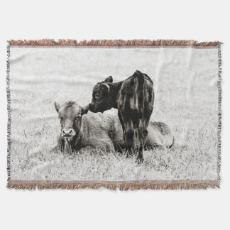 Entzückende schwarze u. weiße Kuh-Wurfs-Decke Decke