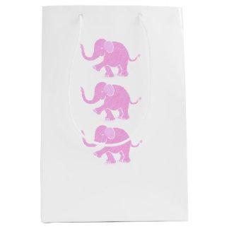 Entzückende süße rosa Baby-Elefanten Mittlere Geschenktüte