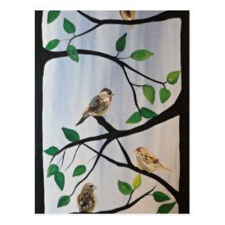 Entzückende Vogelmalerei Postkarten