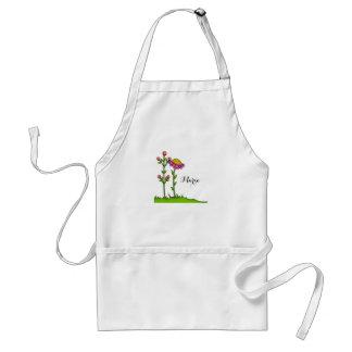 Entzückende Watercolor-Gekritzel-Blumen-Schürze Schürze