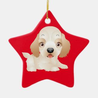 Entzückende Welpen-Hundemehrfache Produkte Keramik Ornament