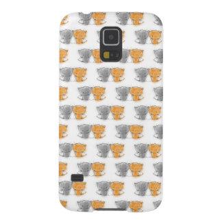 Entzückende wunderliche Kätzchen orange und grau Galaxy S5 Cover