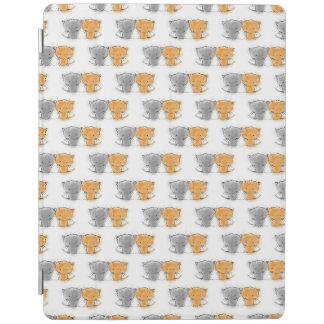 Entzückende wunderliche Kätzchen orange und grau iPad Smart Cover