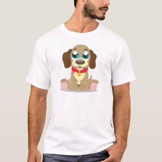 Entzückender Brown-Cartoon-Welpe T-Shirt