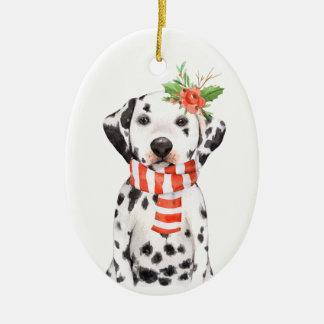 Entzückender dalmatinischer Welpen-erste Keramik Ornament