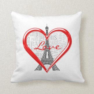 Entzückender Eiffel Turm Liebe-Paris | Kissen