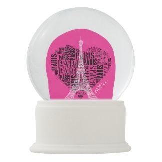 Entzückender Eiffel Turm Liebe-Paris   Schneekugel