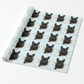 Entzückender französische Bulldoggen-Welpe! Geschenkpapier
